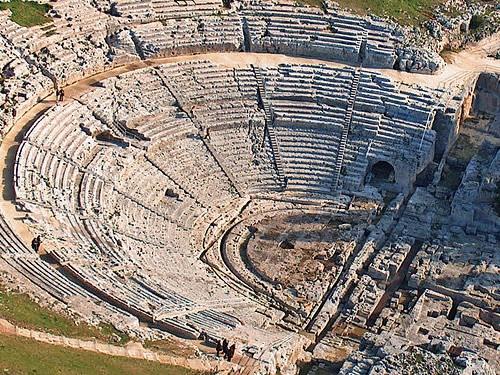 teatro greco siracusa foto